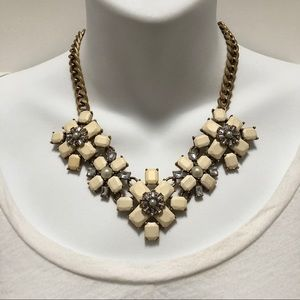 J. CREW Lovely Gem Cluster Statement Necklace